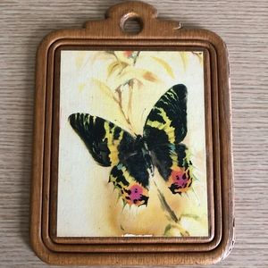 Vintage butterfly plaque